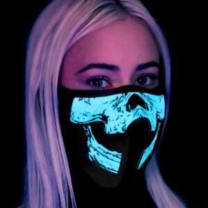 As Luzes Ativam-se Com o Som - Máscara Led Esqueleto - VEJA O VIDEO