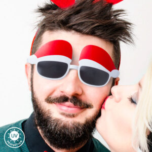 Óculos com Chapéu de Pai Natal 144802 Branco
