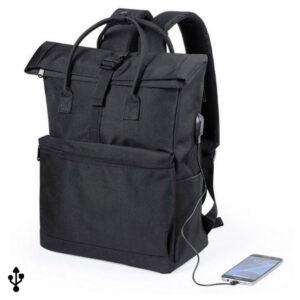 Mochila para Portátil e Tablet com Saída USB 145532 Preto