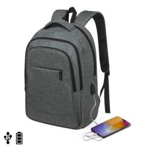 Mochila para Portátil e Tablet com Saída USB 146455 Cinzento