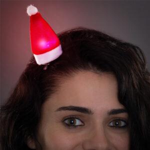 Gancho para o Cabelo com LED Gorro Pai Natal