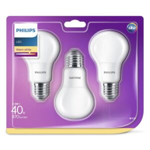 Philips - Lâmpadas LED E27 40W-5,5W 3-Pack