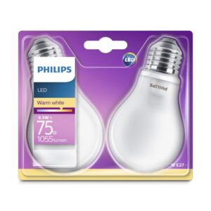 Philips - Lâmpadas LED E27 - 75W-8.5W 2-pack