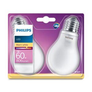 Philips - Lâmpadas LED E27 - 60W-7W 2-pack