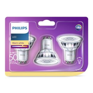 Philips - Lâmpadas LED GU10 50W-4.6W 3-Pack