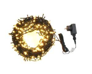 Cordão de Luzes 400 LED 40 m 8 Efeitos Iluminação IP44 Branco Quente - PORTES GRÁTIS