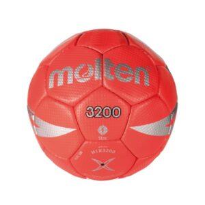 Molten® Bola de Andebol H1X3200 Vermelho Couro Sintético (Tamanho 1)