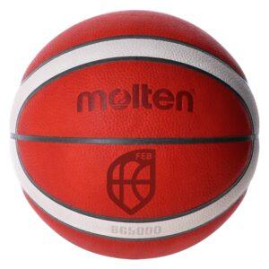 Molten® Bola de Basquetebol B6G5000 Couro (Tamanho 6)