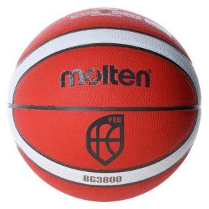 Molten® Bola de Basquetebol B6G3800 Couro Sintético (Tamanho 6)