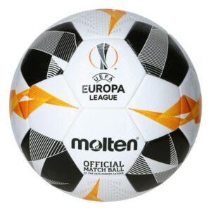 Molten® Bola de Futebol F5U5003-G19 UEL Branco Couro Sintético (Tamanho 5)
