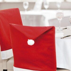 Capa para Cadeira Gorro de pai natal (50 x 62 cm) 144260 Vermelho