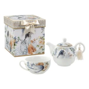 Juego da Chaleira Tea For One 116182 Gatos