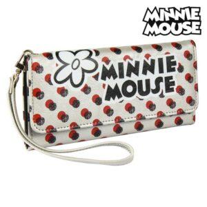 Carteira Minnie Mouse Porta-cartões Branco Metalizado 70687