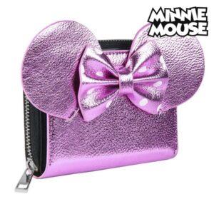 Carteira Minnie Mouse Porta-cartões Cor de rosa Metalizado 70688