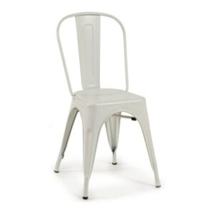 Cadeira de Sala de Jantar Gift Decor Metal branco (52 x 85,5 x 46 cm)