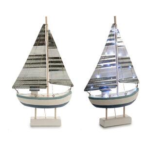 Barco Gift Decor Chapa Madeira (7,5 x 51 x 26,5 cm) Luzes LED