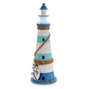 Figura Decorativa Gift Decor Madeira (18 x 53 x 18 cm) Luzes LED