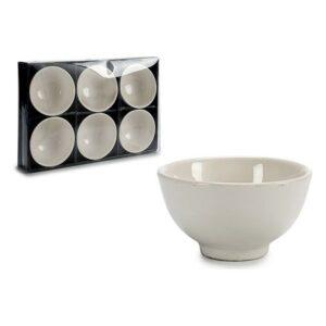 Conjunto de 6 Tigelas Branco Porcelana
