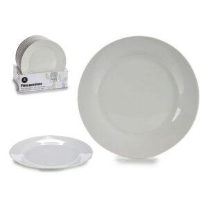 Prato Branco Porcelana Ø 19 cm