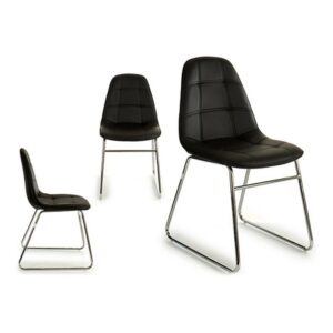 Cadeira de Sala de Jantar Gift Decor (58 x 84,5 x 45 cm) Preto