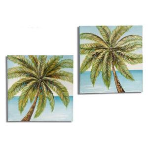 Quadro Gift Decor Palm Tree (3 x 80 x 80 cm)
