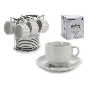 Conjunto de 6 Chávenas de Café Porcelana (17 x 19 x 18 cm)