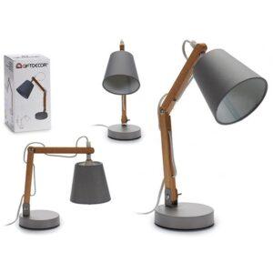 Flexo/Lâmpada de secretária Gift Decor Cinzento Madeira Metal (12 x 31 x 12 cm)
