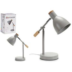 Flexo/Lâmpada de secretária Gift Decor Cinzento Madeira Metal (15 x 36 x 32 cm)