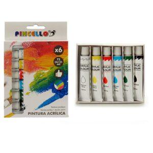 Tinta acrílica Pincello (6 Peças)