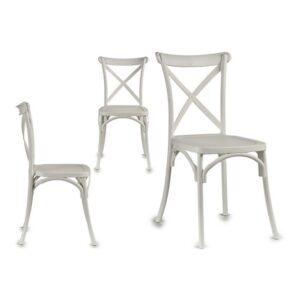 Cadeira de Sala de Jantar Gift Decor Madeira Madeira (51 x 89,5 x 46 cm) Branco