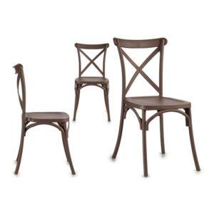 Cadeira de Sala de Jantar Gift Decor Cinzento Madeira Madeira (51 x 89,5 x 46 cm)