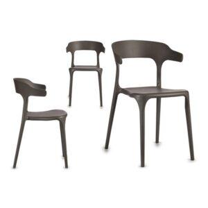 Cadeira de Sala de Jantar Gift Decor Cinzento (42 x 77 x 47 cm)