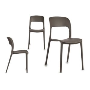 Cadeira de Sala de Jantar Gift Decor Cinzento (41 x 83 x 43 cm)