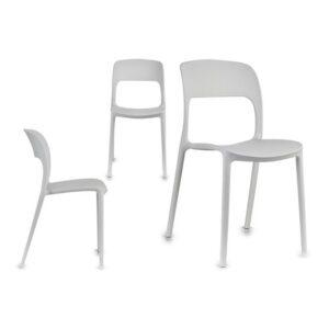 Cadeira de Sala de Jantar Gift Decor (41 x 83 x 43 cm) Branco