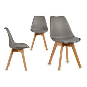 Cadeira de Sala de Jantar Gift Decor Cinzento (48 x 82 x 43 cm)