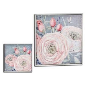 Quadro Gift Decor Cor de Rosa (52,5 x 2,8 x 52,5 cm)