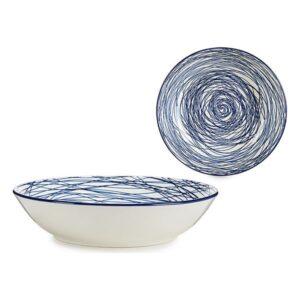 Prato Fundo Azul Porcelana (Ø 20 cm)
