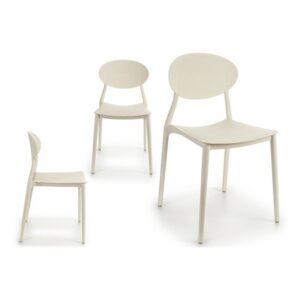 Cadeira de Sala de Jantar Gift Decor Plástico (41 x 81 x 49 cm) Branco
