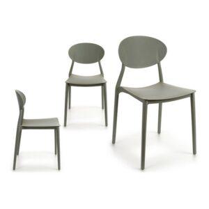 Cadeira de Sala de Jantar Gift Decor Cinzento Plástico (41 x 81 x 49 cm)