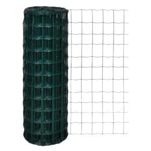 Cerca 10x1,7 m aço verde - PORTES GRÁTIS