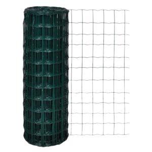 Cerca 25x1,7 m aço verde - PORTES GRÁTIS