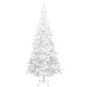 Árvore de natal artificial L, 240 cm, branca - PORTES GRÁTIS