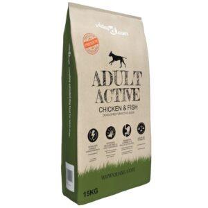 Ração premium para cães Adult Active Chicken & Fish 15 kg - PORTES GRÁTIS