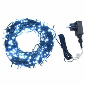 Cordão de luzes c/ 400 LEDs int/ext IP44 40m branco frio  - PORTES GRÁTIS