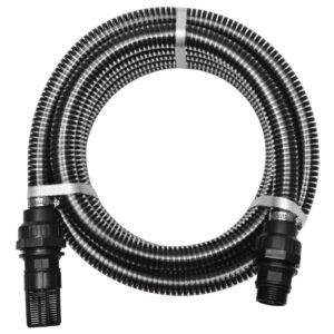 Mangueira de sucção com conectores 10 m 22 mm preto - PORTES GRÁTIS