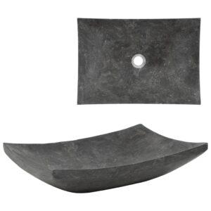 Lavatório 50x35x12 cm mármore preto - PORTES GRÁTIS