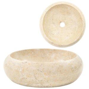 Lavatório 40x12 cm mármore creme - PORTES GRÁTIS