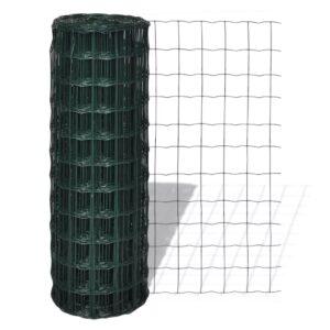 Cerca 10 x 1,5 m aço verde - PORTES GRÁTIS