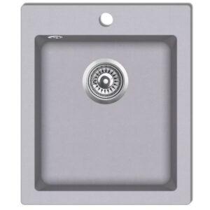 Lava-louça de bancada com 1 cuba em granito cinzento - PORTES GRÁTIS