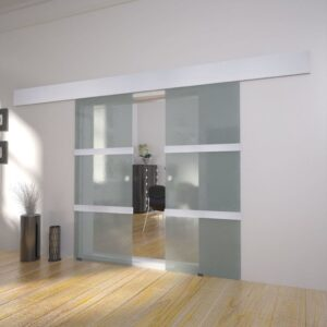 Portas deslizantes em vidro, 2 pcs - PORTES GRÁTIS
